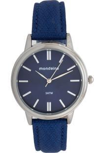 Relógio Mondaine 76663L0Mvnh2 Azul-Marinho/Prata