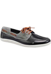 Sapato Masculino Dockside Sandro Moscoloni Kentucky Preto/Cinza