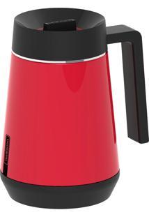 Garrafa Térmica Tramontina Exata Em Aço Inox Vermelho Com Infusor 300 Ml 61644036
