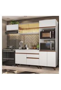 Cozinha Completa Madesa Reims Xa260001 Com Armário E Balcão Branco Cor:Branco