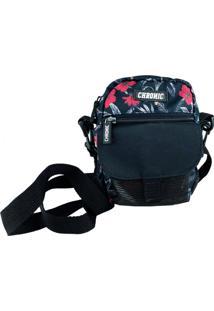 Mini Bolsa Lateral Chronic Shoulder Bag Floral Preto