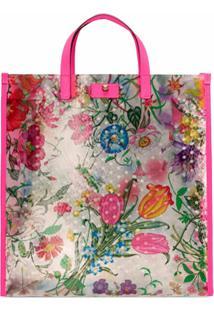 Gucci Bolsa Tote Com Estampa Floral - Rosa