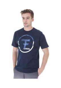 Camiseta Fatal Estampada 20340 - Masculina - Azul Escuro
