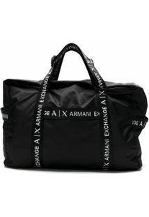 Armani Exchange Mala De Viagem - Preto