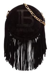 Balmain Disco Fringed Crossbody Bag - Preto