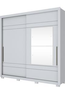Guarda Roupa Henn Delicato 2 Portas De Correr 2 Espelhos Branco Hp