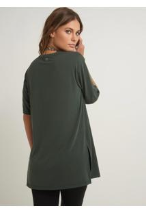 Blusa Bobô Samantha Verde Militar Feminina (Verde Militar, Pp)