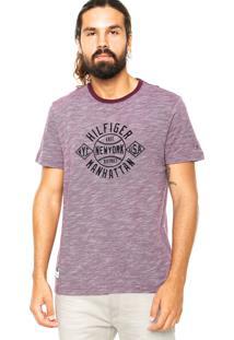 Camiseta Tommy Hilfiger Stewart Roxo