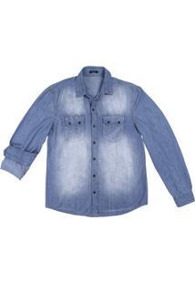 Camisa Jeans Masculina Hering Em Algodão Com Bolsos