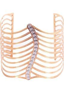 Bracelete La Madame Co Folha Rosê - Kanui