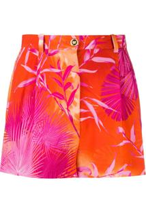 Versace Tie Dye Short Shorts - Laranja