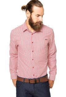 Camisa Sommer Listras Vermelha