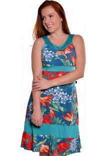 5350dd4863ec Vestido Azul Marinho Estampado Ombro feminino   Gostei e agora?