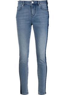 Escada Sport Calça Jeans Skinny Bicolor - Azul
