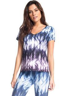 Blusa Abstrata- Azul & Branca- Vestemvestem