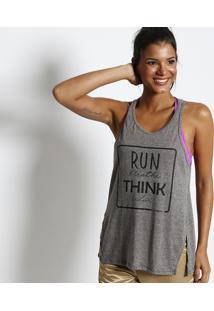 Regata ''Run Breathe Think Relax'' - Cinza & Preta- Physical Fitness
