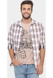 Camisa Calvin Klein Quadriculado Stone - Masculino