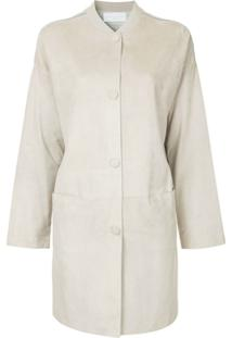 Fabiana Filippi Longline Button Jacket - Cinza