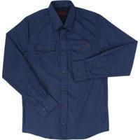7cdb6d949e Camisa Masculina Manga Longa - Masculino-Azul Escuro