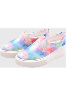 Slip On Colorido Gommix Shoes 089 Tie Dye Sola Alta - Kanui
