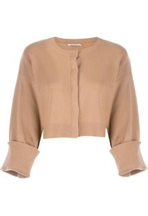 P.A.R.O.S.H. Flared Sleeve Cardigan - Neutro