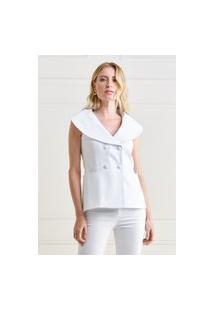 Colete Mx Fashion Sarja Piquet Thamires Off White