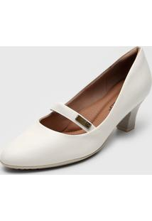 Scarpin Piccadilly Liso Off-White