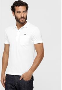 Camisa Polo Lacoste Piquet Bolso Masculina - Masculino