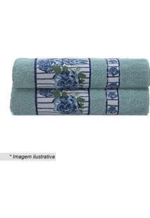 Toalha De Banho Claris Em Relevo- Azul & Verde- 70X1Camesa