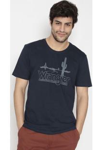 Camiseta Cactos- Azul Marinho & Cinzawrangler