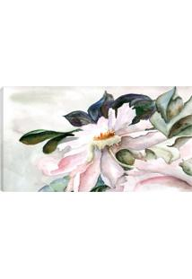 Quadro Flor Branco 55X100Cm