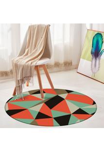 Tapete Redondo Wevans Multi Geométrico Color
