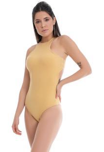 Body Pkd Costas Abertas Amarelo