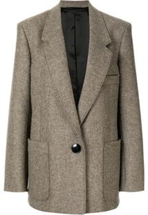 Lemaire Oversized Single-Breasted Blazer - Cinza