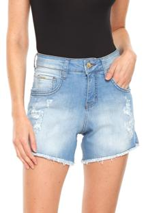 Bermuda Jeans Sommer Reta Melina Azul