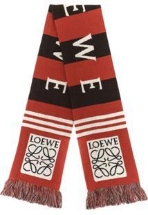 Loewe Lenço Com Logo - Vermelho