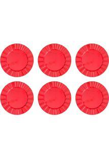 Conjunto De Sousplat Com 6 Peças Cook Vermelho 33 Cm