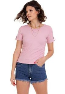 T-Shirt Manola Feminina - Feminino-Nude