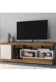 Rack Para Tv Até 70 Polegadas Tijuca 1 Porta Natura Real/Off White - Colibri Móveis