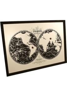 Quadro Decorativo Espelhado Mappe