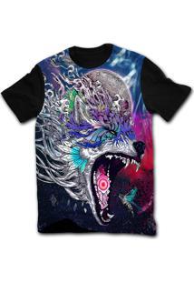 Camiseta Manga Curta Stompy Psicodelica 38 Preto