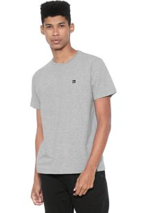 Camiseta Quiksilver Slim Fit Slim Transfer Cinza