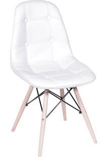 Cadeira Eames Botonê- Branca & Madeira Clara- 83X44Xor Design