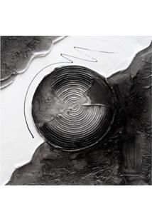 Quadro Artesanal Com Textura Abstrato Preto 30X30Cm Uniart