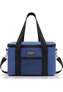 Bolsa Térmica Tam. G Lisa Retangular Jacki Design Urbano Azul - Tricae