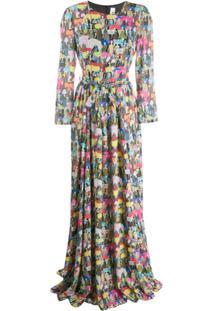 Ultràchic Fashion Print Dress - Preto