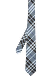 Burberry Gravata Xadrez De Seda - Azul