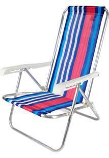 Cadeira Reclinável 4 Posições Alumínio Multicolorido Belfix - Tricae