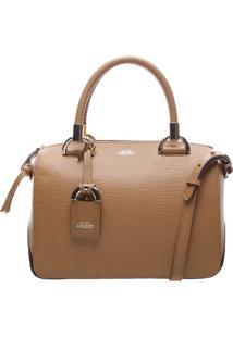 Bolsa Em Couro Texturizada- Bege Escuro & Dourada- 1Arezzo & Co.