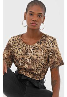 Camiseta Lança Perfume Onça Bege